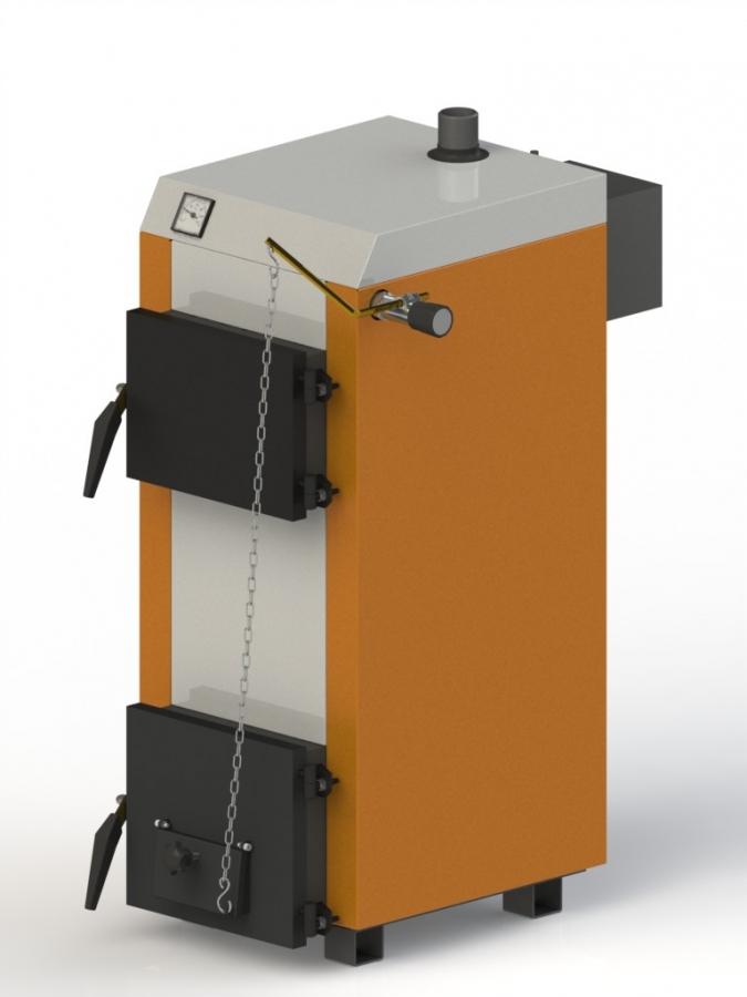 Твердотопливный котел Kotlant КГ-10 + мех. регулятор тяги