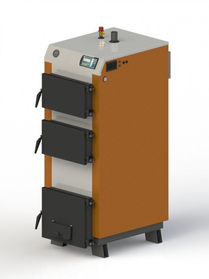 Твердотопливный котел Kotlant КГ- 30 с эл. автоматикой + вент.