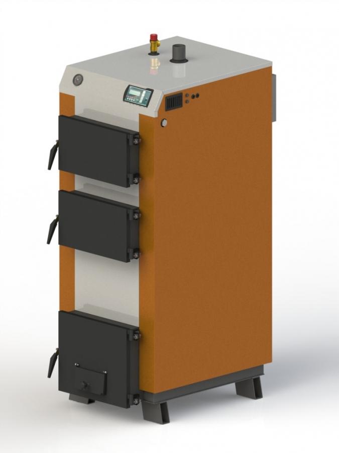 Твердотопливный котел Kotlant КГ- 40 с электро авто. + вент.